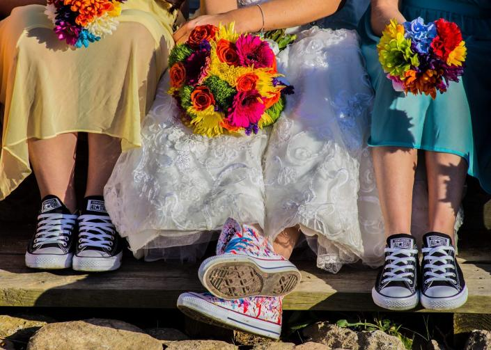 [Image: Bride and bridesmaids shoes]