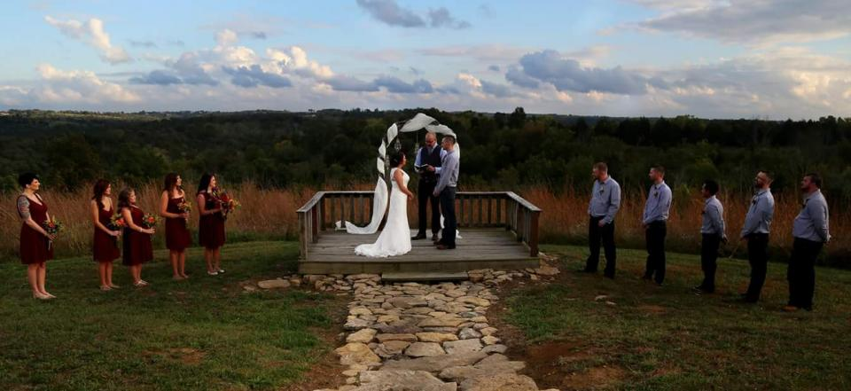 At Stone House Farms, we feature a striking wedding hill perfect for saying I do.